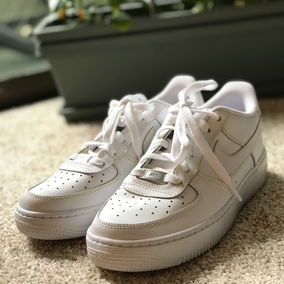 Nike Air Force 1 White Leather Sneakers